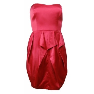 Jessica Simpson Women's Strapless Envelope Dress Barberry