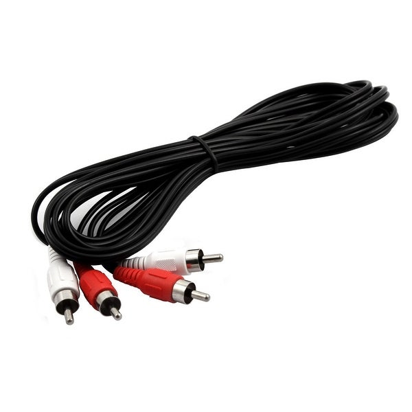DVD Player Speaker 2 RCA Male to 2 RCA Male Audio Video Cable 10Ft Length 2pcs