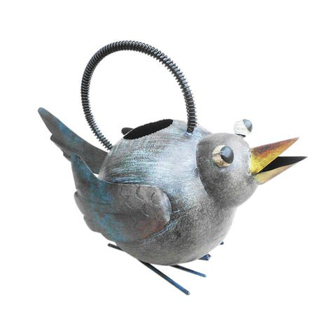 Offex Handmade Iron Multi Color Bird Watering Can
