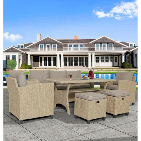 6 Piece Outdoor Rattan Wicker Set Patio Garden Backyard Sofa