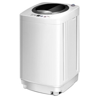 Full-Automatic Laundry Wash Machine Washer/Spinner W/Drain Pump - White