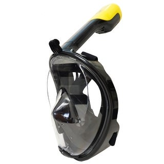 Snorkel Master Black Full Face Snorkel Mask with GoPro Attachment