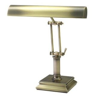 House of Troy P14-201 Piano / Desk 1 Light Piano Lamp with Square Base