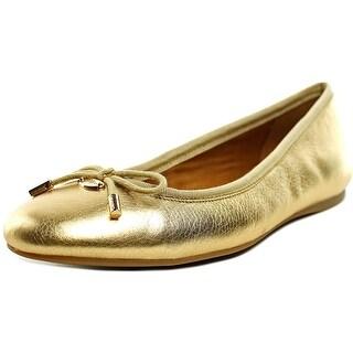 Coach Lara Round Toe Synthetic Ballet Flats