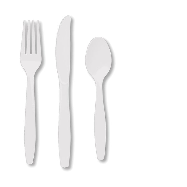 Touch Of Color Premium Cutlery Plastic Svc 8 24 Count White - multi