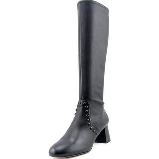 Coach Britney Stretch Round Toe Leather Knee High Boot