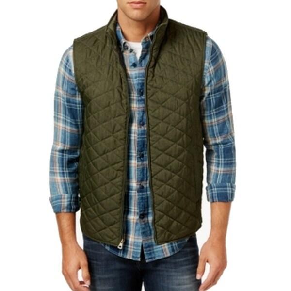 Weatherproof NEW Pine Green Mens Size 2XL Quilted Full-Zip Vest Jacket