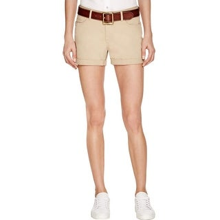 Paige Womens Jimmy Jimmy Khaki Shorts Cuffed Casual