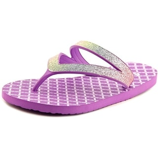 Sanuk Lil Selene Crystal Open Toe Synthetic Thong Sandal