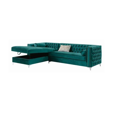 Castells Teal Tufted Seat Sectional
