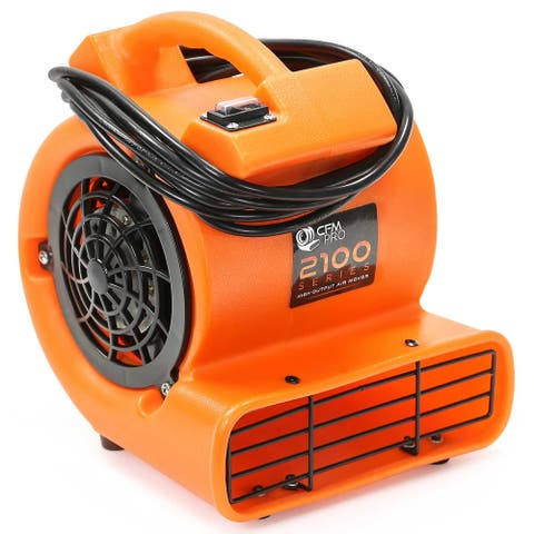 1/12 HP Mini-Air Mover & Floor Dryer - Orange by CFM PRO - Small