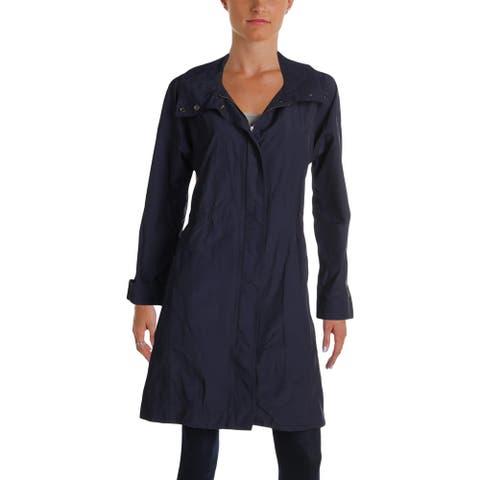 Eileen Fisher Womens Trench Jacket Fall Rainwear
