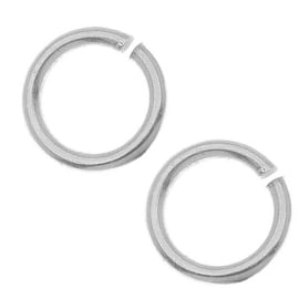 Nunn Design Antiqued Silver Plated Pewter Open Jump Rings 8.5mm 17 Gauge (20)