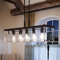 "Luxury Modern Farmhouse Chandelier, 15.75""H x 36.75""W, with Industrial Chic Style, Olde Bronze Finish by Urban Ambiance"