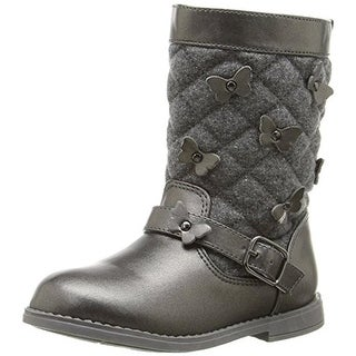 Rampage Girls Lil Gabrielle Riding Boots Metallic - 5 medium (b,m)