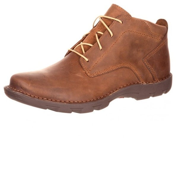 Rocky Western Boots Mens Cruiser Casual Opanka Lacer Brown