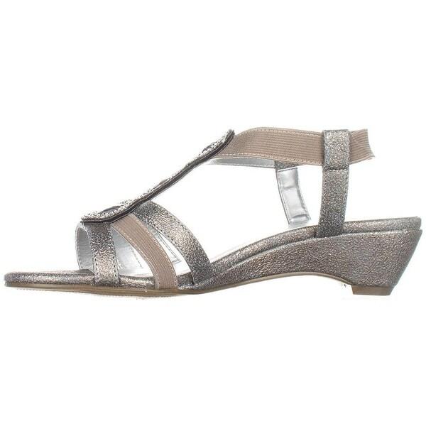 Karen Scott Womens Casha Fabric Open Toe Casual Slingback Sandals