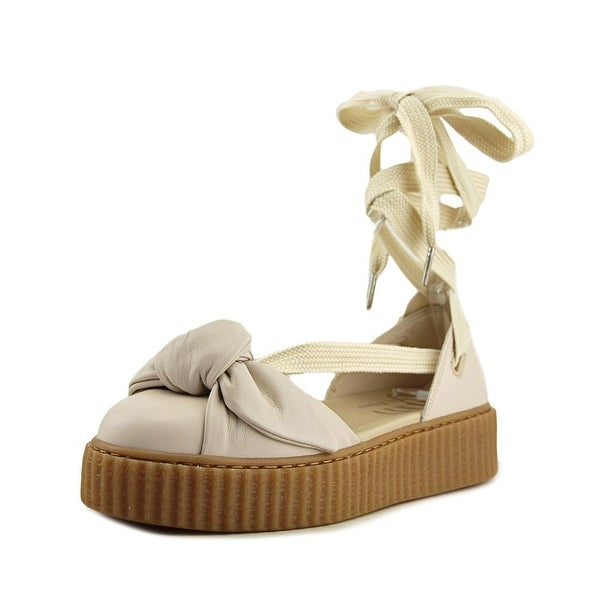 Puma Bow Creeper Sandal Women Open Toe Leather Pink Platform Sandal