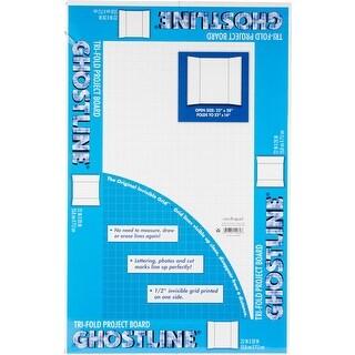 """Ghostline Tri-Fold Project Board 22""""X28""""-White"""