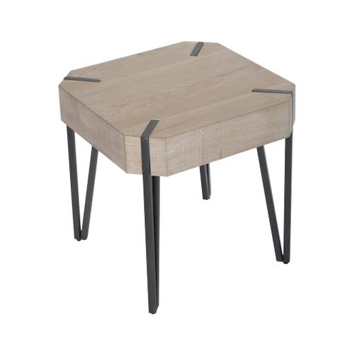 """Wooden 20"""" Accent Table, Beige Kd - 20Wx20Lx20H"""