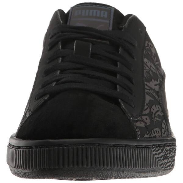 Black Womens Puma Basket Swan Sneakers Casual