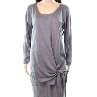 Cupio NEW Gray Castle Women's Size Large L Tie-Hem Scoop Neck Sweater