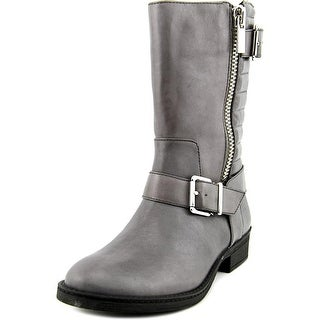 INC International Concepts Blayre Women Round Toe Leather Gray Mid Calf Boot