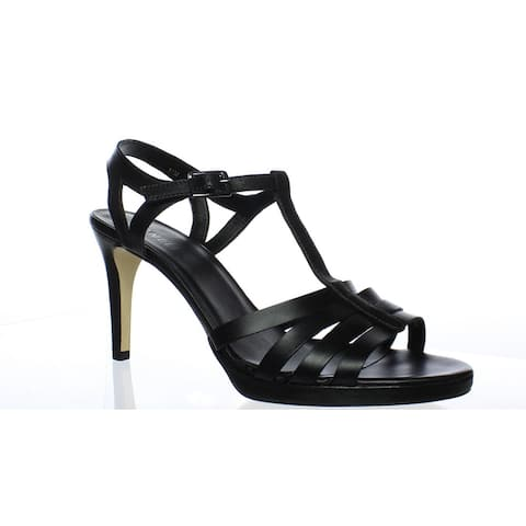 6e1ff94033 VANELi Womens Titan Black Ankle Strap Heels Size 11