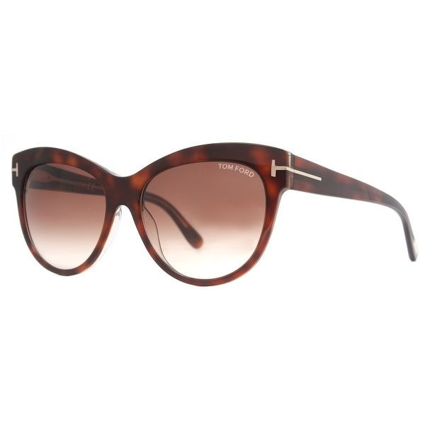 Tom Ford Lily TF 430 56F Havana Brown Gradient Women's Cat Eye Sunglasses - 56mm-16mm-140mm