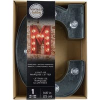 """Silver Metal Marquee Letter 9.875""""-C"""