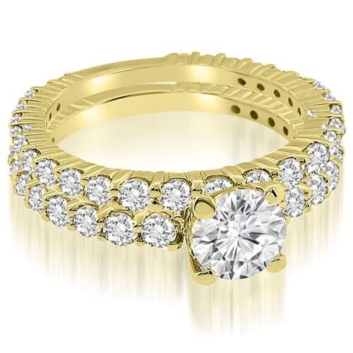 2.30 cttw. 14K Yellow Gold Round Cut Diamond Bridal Set