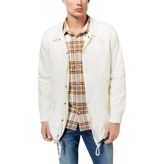 LRG Mens Basic Coat Long Sleeves Coaches Jacket
