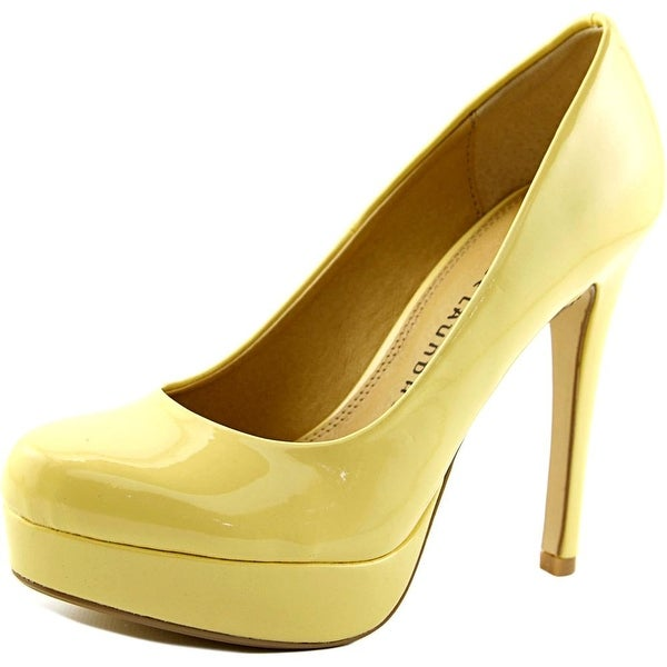 Chinese Laundry Wonder Women  Open Toe Synthetic Yellow Platform Heel