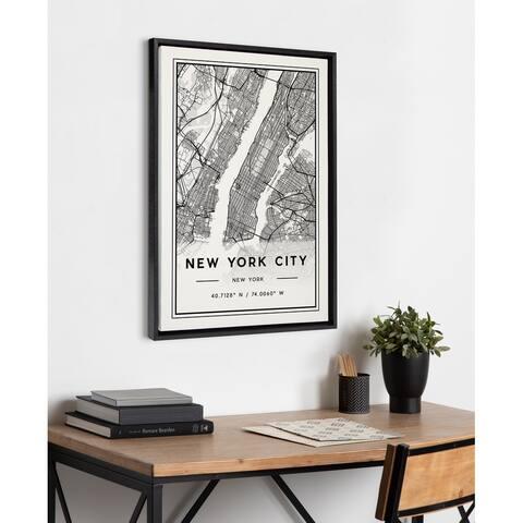 Kate and Laurel Sylvie New York City Modern Framed Canvas by Jake Goossen