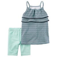 Carter's Baby Girls' 2-Piece Geo Print Tank And Biker Shorts, 12 Months