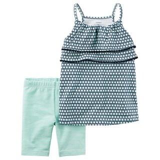 Carter's Baby Girls' 2-Piece Geo Print Tank And Biker Shorts, 12 Months