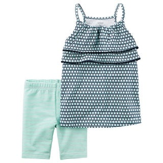 Carter's Baby Girls' 2-Piece Geo Print Tank And Biker Shorts 3 Months