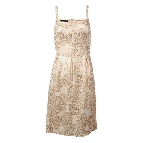 Nine West Women's Sequined Mesh A-Line Dress