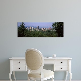 Easy Art Prints Panoramic Images's 'Blue Ridge Mountains, Asheville, Buncombe, North Carolina' Canvas Art