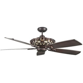 "Concord 60AC5 60"" 5 Blade Ceiling Fan with Bulbs and Blades Included from the Ar"