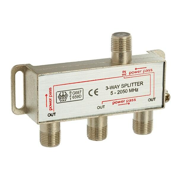 3-Way Splitter 5-2050MHz F-Type