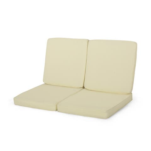 Coesse Outdoor Water Resistant Fabric Club Chair Cushions (Set of 2) by Christopher Knight Home
