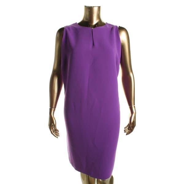 Lauren Ralph Lauren Womens Plus Wear to Work Dress Crepe Solid