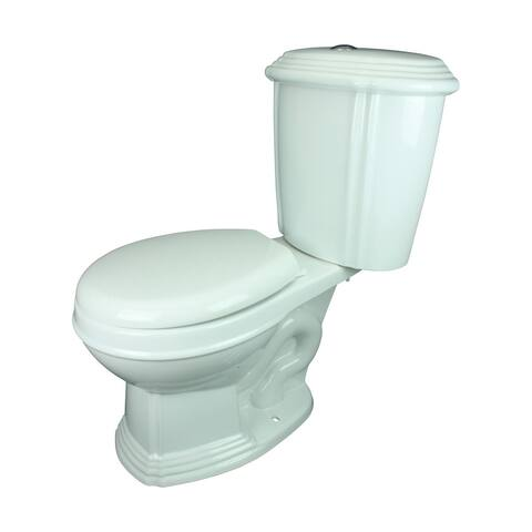 White China Dual Flush Two-Piece Round Front Toilet with No-Slam Seat