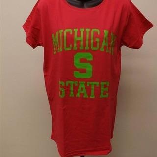 Michigan State Spartans Womens Sizes XL 2XL Bright Pink Shirt