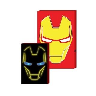 Iron Man LED-lit Hero face MDF box art