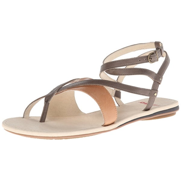 Tsubo NEW Gray Shoes Size 5.5M Strappy Brenleigh Leather Sandals