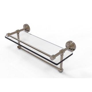 Allied Brass Dottingham Gallery Glass Shelf with Towel Bar