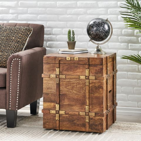 Tucker Wood Storage Trunk by Christopher Knight Home