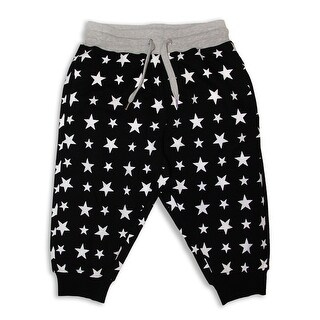 Star Printed Jogger Crop Pants